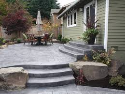 Cost Of Stamped Concrete Patio by Patio 24 Stamped Concrete Back Yard Ideas Colors And Stamped