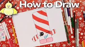 how to draw shopkins candy cane twist step by step drawing