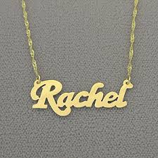 personalized name small gold personalized name necklace free shipping