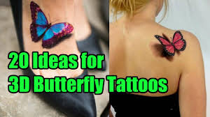 20 unique ideas for 3d butterfly tattoos