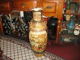 Large Brown Floor Vase Superb Royal Satsuma Moriage Large Floor Vase 3 U0027 Tall Women In