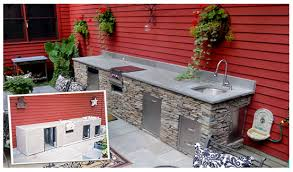 diy outdoor kitchen island build your outdoor kitchen or bbq island oxbox