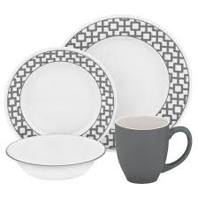 corelle impressions vitrelle and stoneware16pc dinnerware set