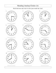 Clock Worksheets Grade 1 Clock Face Worksheets To Print Activity Shelter