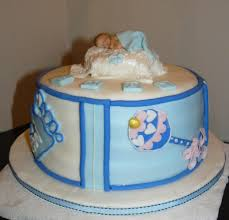 photo cute baby shower cakes for image easy baby shower cakes for