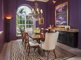 Be Colorful Coastal Dining Room - Purple dining room