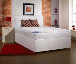 Divan Or Bed Frame Opal 4ft Small Divan Bed With Mattress In White Damask