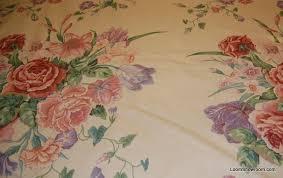 Vintage Drapery Fabric Chintz 17 Yard Piece Vintage English Glazed Chintz Design Large