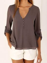 brown blouse blouses shirts chicnico