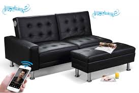 knightsbridge bluetooth speakers sofa bed with storage ottoman