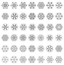 different snowflake patterns design elements vector 01 vector