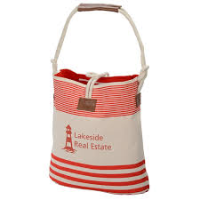 nautical tote 4imprint rope nautical tote 124041 imprinted with your logo