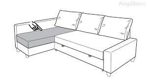 canapé avec meridienne ikea monter le friheten d ikea avec la méridienne côté gauche