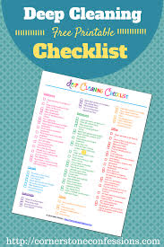 deep cleaning checklist free printable cornerstone confessions