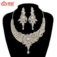fashion necklace earring sets images India style women wedding jewelry sets crystal necklace earrings jpg
