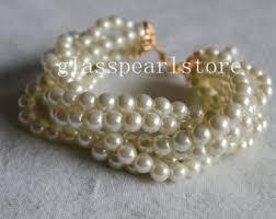 pearl bracelet gold clasp images Ivory pearl bracelet etsy jpg