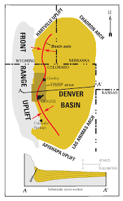 Map Of Denver Colorado by Denver Basin Wikipedia