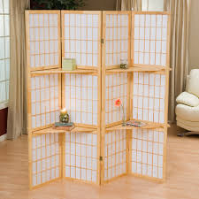 Room Divider With Shelves Decorating White Room Divider Screens For Home Furniture Ideas