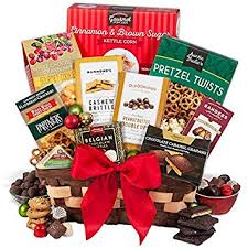 christmas gift baskets christmas gift basket classic gourmet snacks and