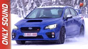 subaru sti 2017 new subaru wrx sti 2017 finland snow test drive only sound youtube