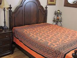 reversible cotton duvet covers rust orange printed queen size