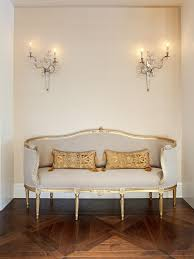 lighting interior paint ideas with plug in wall sconce and settee
