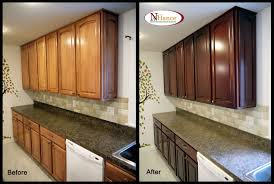 how to refinish stained wood kitchen cabinets kitchen decoration
