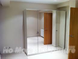 Armoire With Glass Doors Bedroom Amazing Ikea Wardrobe Closet With Mirror Bedroom