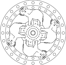 elephant mandala coloring pages mandala coloring pages of