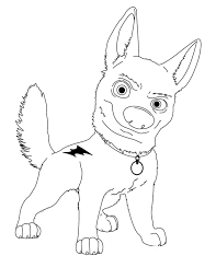 free printable cartoon coloring pages powerful bolt cartoon