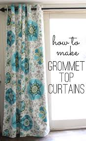 how to make curtains grommet top curtains tutorial a step by step free guide