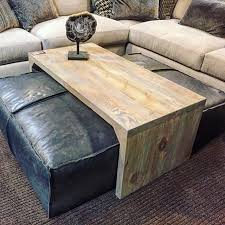 Coffee Table Leather Ottoman Leather Ottoman Sliding Wood Coffee Table Stylish And