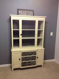 our pinteresting family china cabinet project with lace features