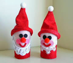 christmas craft from toilet paper rolls easy arts and crafts ideas