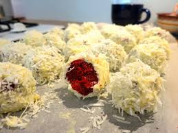 coconut red velvet truffles recipe a picture plus a thousand words