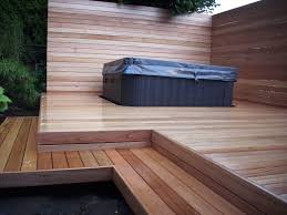 mahogany deck with tub deck masters llc portland or