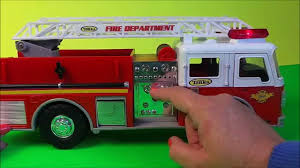 tonka fire department american fire engine truck toy youtube