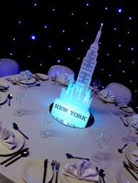 New York City Themed Party Decorations - new york city themed sweet 16 centerpiece chrysler building