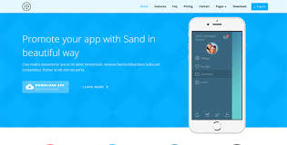 sand creative mobile app template html bootstrap template