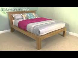 tokyo solid oak king size bed from oak furniture land youtube