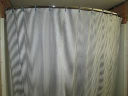 bathroom striped shower curtains with curved shower curtain rod