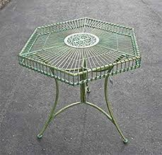 Hexagon Patio Table Garden Patio Table Hexagon Shaped Antique Green