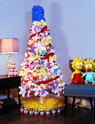 themed christmas tree the simpsons theme christmas tree pop culture christmas trees