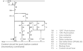 typical circuit diagram of star delta starter plc plc ladder