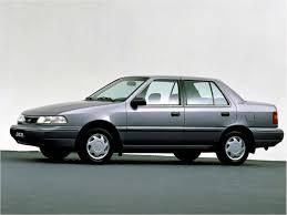 1990 hyundai excel sport compact car magazine catalog cars