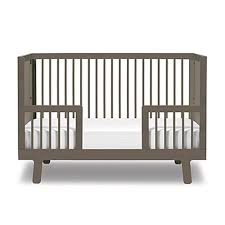Baby Crib Convertible To Toddler Bed Sparrow Crib Toddler Bed Conversion Kit In Grey And Luxury Baby
