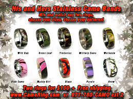 his and camo wedding rings camo his hers wedding ring set
