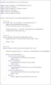 android oncreateoptionsmenu java code for an android toolbar