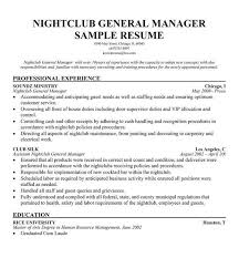 nightclub general manager resume top 8 nightclub general manager