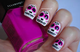 in samazement sugar skull halloween nail art tutorial